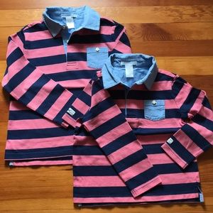 Janie and Jack brother set rugby shirts 3 5
